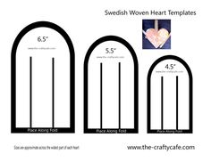 Swedish Woven Hearts Template Preview Photo Do in Red And Green for the holidays