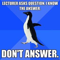 lecturer asks question