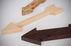 DIY Wooden Eames Arrows - I really want to be the kind of person that could make these.  Guess I need a bandsaw first :)