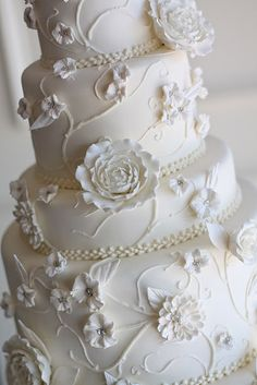 White on White on Pinterest White Wedding Cakes, Wedding ...