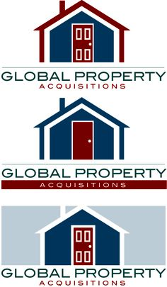 Logo mockups for a global property management and investment company.