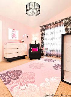 Parisian Chic Pink and Black #Nursery