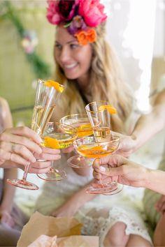 Fancy flutes: Cheers!