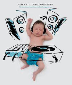 DJ Cuteness, Baby Art.  By Moffatt Photography