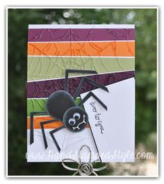 How to make a punch art spider using the owl punch from Stampin' Up! http://www.handstampedstyle.com