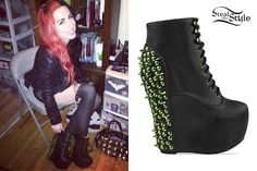 Ash Costello: Spiked Wedge Boots