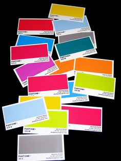 pantone business cards