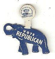 Vote Republican tab button, 1950's
