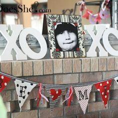 "Valentine's Day ""BE MINE"" Banner! Love this!"