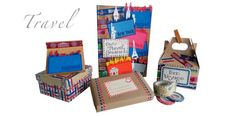 Create your own travel items! - Scrapbook.com - DIY travel set using Little B supplies.