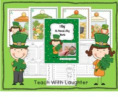 FREEBIE: Teach With Laughter: I Spy St. Patrick's Day Words.  Easy to differentiate with a choice of recording sheets.