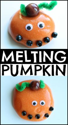 Melting Jack-O-Lantern with Homemade Silly Putty!  So fun!