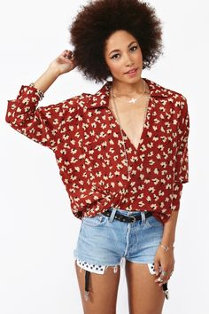 Twisted Floral Blouse