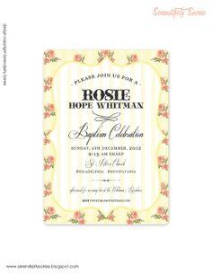 Vintage Rose Custom Printable Invitation  by serendipity Soiree