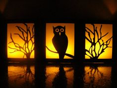 Night Owl Halloween Table Luminaries