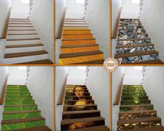 Staircase murals.