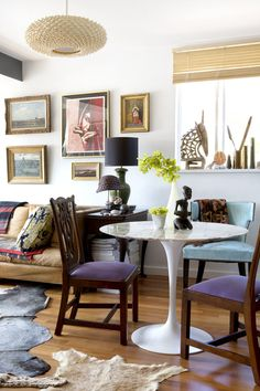 Gallery Wall / Animal Skin Rugs / Eclectic