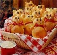 "Teddy Bear Rolls:  Served with honey butter, these rolls go great with our kids' ""Teddy Bear Picnic"" theme for the night."