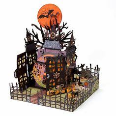 Beautiful Halloween mini-album made by Tamra Pope for the Close To My Heart Album Retreat #CTMH #MiniAlbum