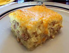 Sausage  Cheese Hash Brown Breakfast Bake