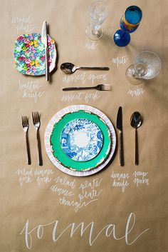 formal place setting guide