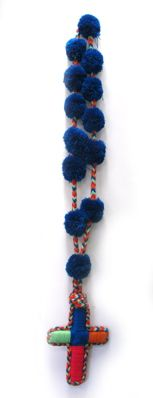 Aid to Artisans Colombian Rosary Blue rosari blue