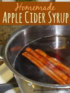 Homemade Apple Cider Syrup