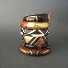 Wood & Brass Bangles. Love these.