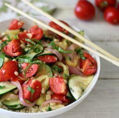 Summertime Vegetarian Stir Fry - A light, summery Italian stir fry made with sweet Italian peppers, zucchini, corn, tomatoes and flavored with fresh parsley and basil.