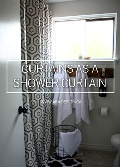 Using curtains as a shower curtain