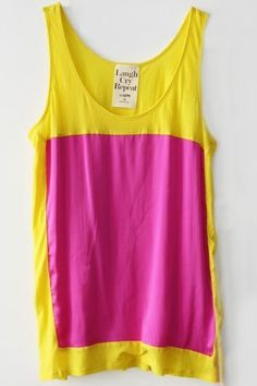 pink and yellow top