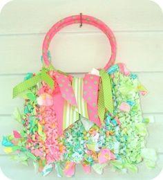 Rag crocheted purse