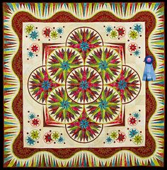 2013 Quilt Expo Quilt Contest, 1st Place, Category 3, Machine Quilted Bed Size Pieced: Super Star, Marilyn Badger, St. George, Utah