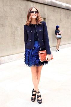 Jacket, Skirt, Shoes, Clutch