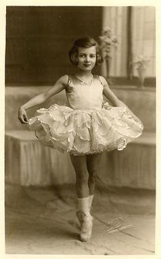 Vintage Postcard ~ Little Dancer