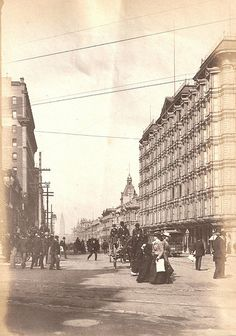 Market Street and Palace Hotel SF Cal around 1900 by loganinkosovo, via Flickr