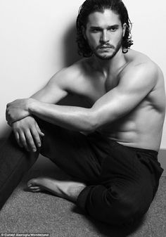 Getting their kits off: Game of Thrones star Kit Harington shows off his muscles as Pretty Little Liars' Julian Morris bares almost all in s...