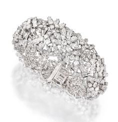 Platinum and Diamond Bracelet, David Webb