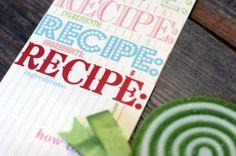 recipe cards printables