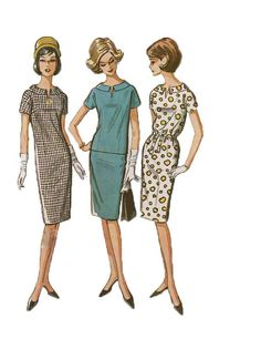 1960s Drop Waist DRESS Top Dart Fitted by DesignRewindFashions, $10.00