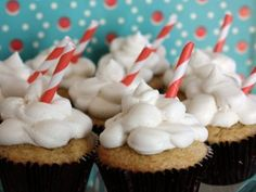 Rootbeer float cupcakes
