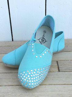Custom Rhinestone TOMS Shoes