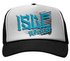 Isle Punk Black and White Trucker Hat