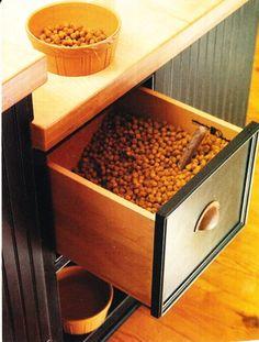 Secret Dog Food Drawer