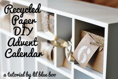 Recycled paper diy advent calendar part 2 LilBlueBoo