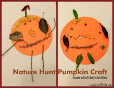 Juggling With Kids: Nature Hunt Pumpkin Craft inspired by Boo To You! {Lois Ehlert Virtual Book Club for Kids}