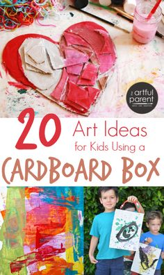 20 cardboard art ideas kids can make from a cardboard box, including both 2-D and 3-D art. Raid the recycle bin and make inexpensive, eco-friendly art!