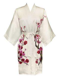 Silk Kimono- Handpainted (Short)
