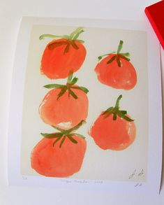 I need more paintings of tomatoes for my kitchen.