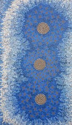 Steven Jungarrayi Collins ~ Ngatijirri Jukurrpa (Budgerigar Dreaming), 2010